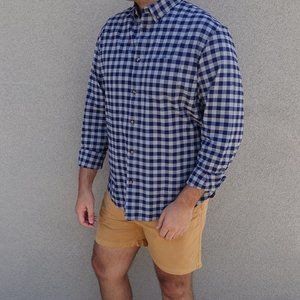 Old Navy Blue Gray Check Long Sleeve Shirt